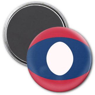 Large 3 inch magnet - Laos flag