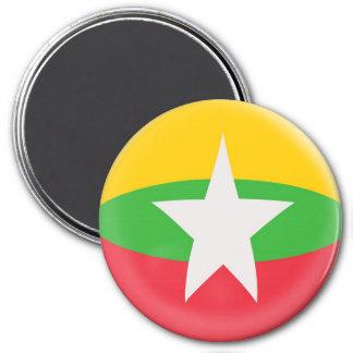 Large 3 inch magnet - Myanmar flag