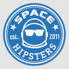 "Large 3"" Space Hipsters Logo Sticker"