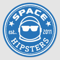 """Large 3"""" Space Hipsters Logo Sticker"""
