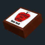 "Large 7.125&quot; Square w/6&quot; Tile Gift Box, Golden Oa Gift Box<br><div class=""desc"">I love this city,  New York.</div>"