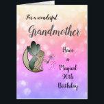 "Large 90th Birthday Grandmother Fairy design Card<br><div class=""desc"">Happy 90th Birthday Grandmother Fairy design large greeting card.</div>"