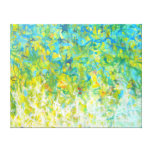 Large Abstract Turquoise Yellow Green White Canvas Canvas Print