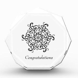Large Acrylic Octagon Award-Black and White Design Award