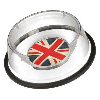 Large Acrylic Union Jack Pet Bowl