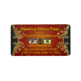 large address or shipping Label