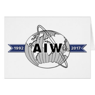 Large AIW 25th Anniversary Logo 5x7 Card
