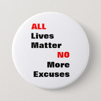 """Large """"All Lives Matter"""" White Button"""