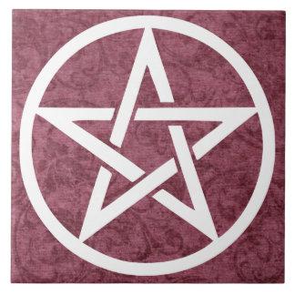 Large Altar Tile - Pentacle Purple for Spirit