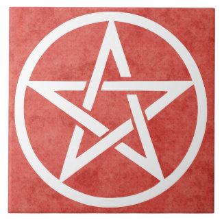 Large Altar Tile - Pentacle Red