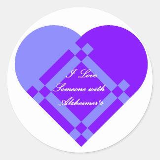 Large Alzheimer's Sticker