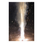 Large amount of sparks from a firecracker customized stationery
