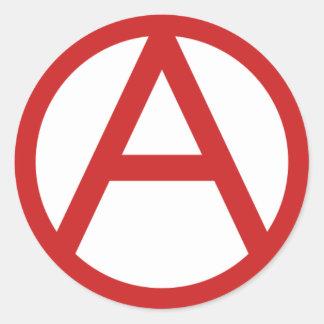Large Anarchy Logo Classic Round Sticker