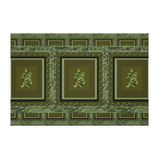 Large and Green Canvas Art Olive Plantlife