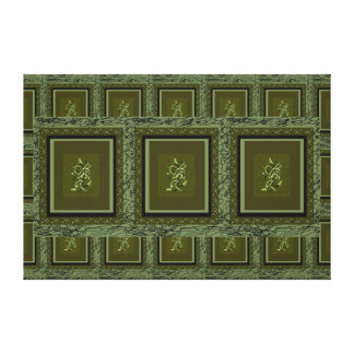 Large and Green Canvas Art Olive Plantlife 2