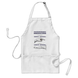 Large and Small Animal Veterinarian humorous Adult Apron