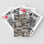Large and Small Stones in a Wall Bicycle Playing Cards