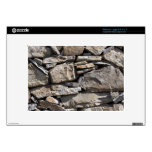Large and Small Stones in a Wall Skin For Netbook