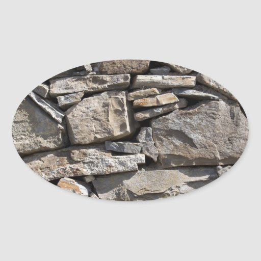 Large and Small Stones in a Wall Sticker