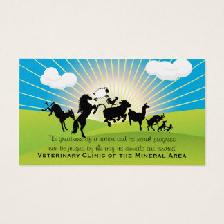 Large Animal  Business Card oberle