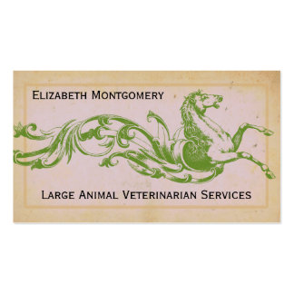 Large Animal Veterinarian Business Cards