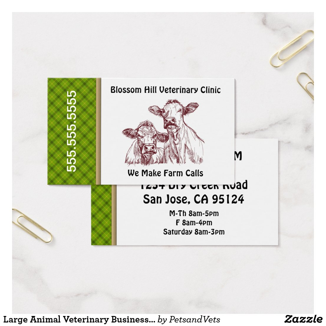 Large Animal Veterinary Business Card