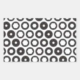 Large Aperture Rectangular Sticker
