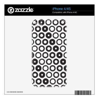 Large Aperture Decals For iPhone 4
