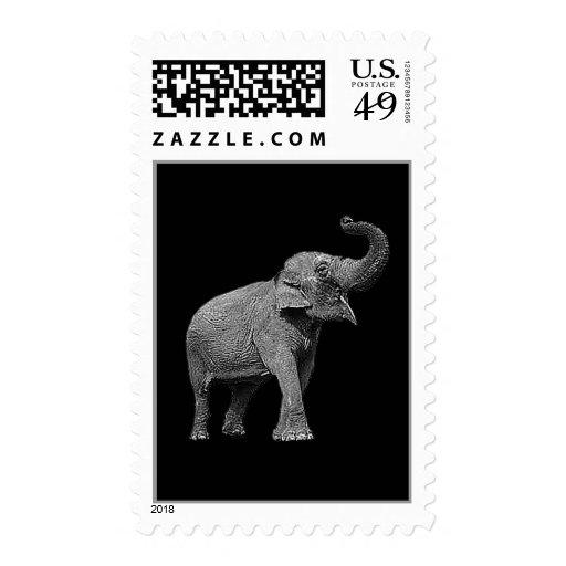 LARGE ASIAN ELEPHANT - INDIAN ELEPHANT POSTAGE STAMP