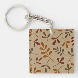 Large Assorted Fall Leaves Design Keychain