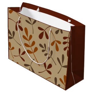 Large Assorted Fall Leaves Design Large Gift Bag