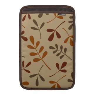 Large Assorted Fall Leaves Design MacBook Sleeve