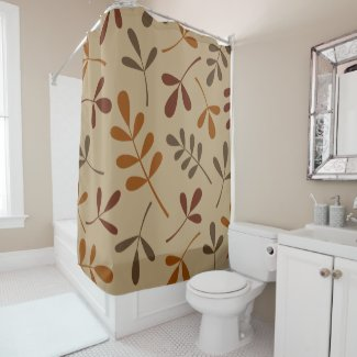 Large Assorted Fall Leaves Design Shower Curtain