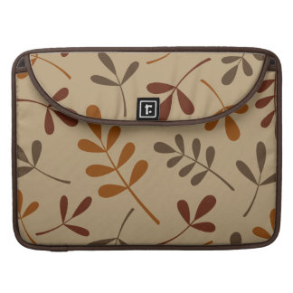 Large Assorted Fall Leaves Design Sleeve For MacBooks