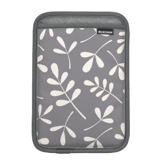 Large Assorted Leaves Cream on Grey Sleeve For iPad Mini