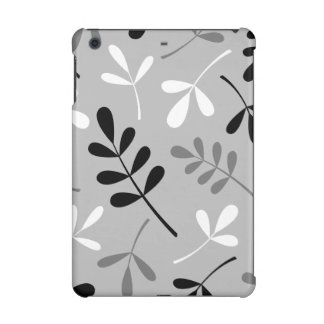 Large Assorted Leaves Monochrome Design iPad Mini Retina Covers