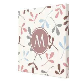 Large Assorted Leaves Pastel Colors (Personalized) Canvas Print