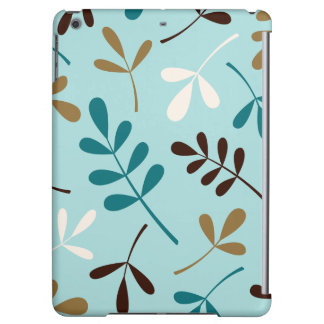 Large Assorted Leaves Teals Cream Gold Brown iPad Air Cover