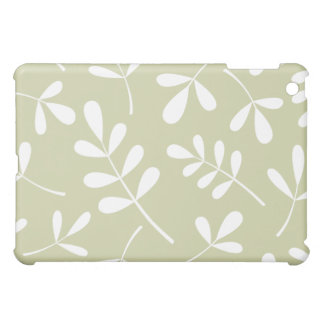 Large Assorted Leaves White on Lime iPad Mini Cover