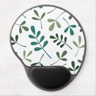 Large Assorted Mixed Green Leaves Design Gel Mouse Pad