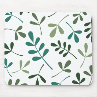 Large Assorted Mixed Green Leaves Design Mouse Pad