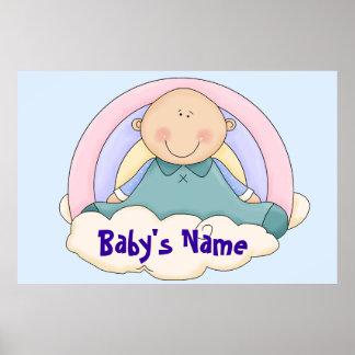 Large Baby Nursery Mural Poster