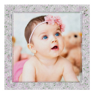 Large Baby Photo Poster