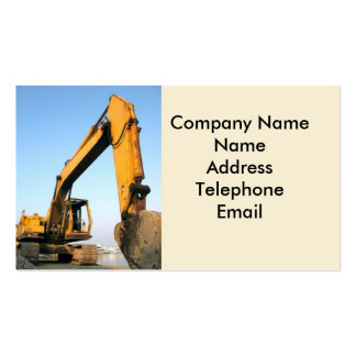Large Backhoe Double-Sided Standard Business Cards (Pack Of 100)