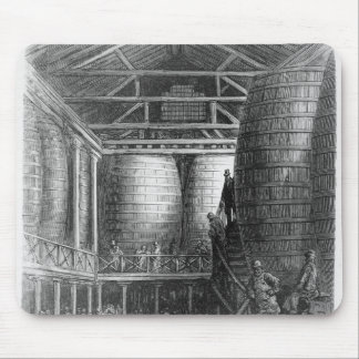 Large barrels in a brewery mouse pad