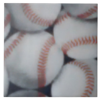 Large Baseball Ceramic Photo Tile