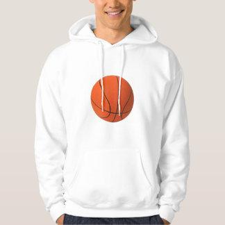 Large Basketball Design Hooded Pullover