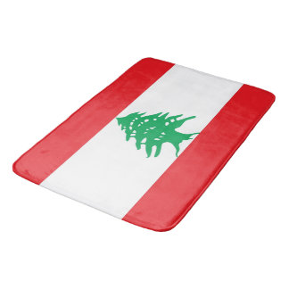 large bath mat with flag of lebanon
