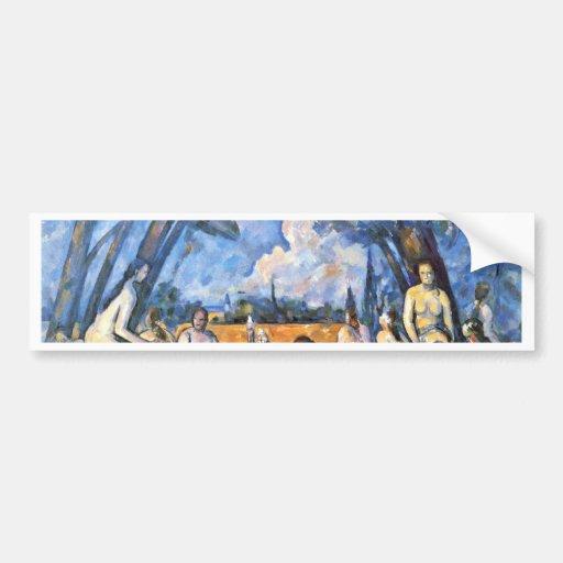 Large Bathers By Paul Cézanne (Best Quality) Car Bumper Sticker