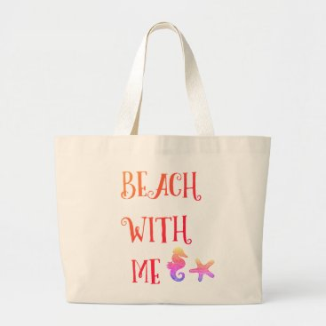 Beach Themed Large Beach With Me Beach Bag